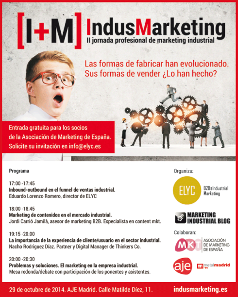 Cartel de indusmarketing, 2ª jornada profesional de marketing industrial
